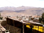 Pohľad na mesto z fabriky na spracovanie minerálov