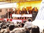 Evo Morales na tribúne